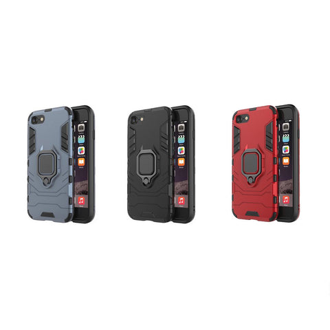 iPhone Rugged Case, Shockproof, Ring Holder, Hard Back Cover