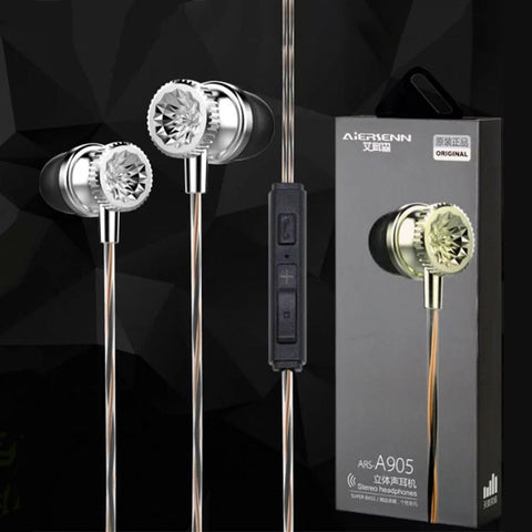 3.5mm In-Ear Earphones Bass Stereo Headphones With Remote Mic