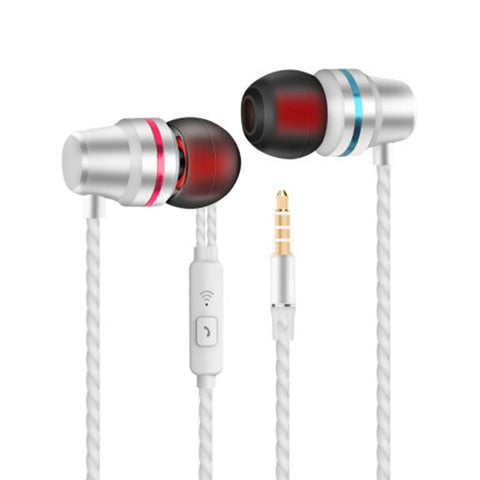 Universal MP3 MP4 Microphone Metal Earbuds