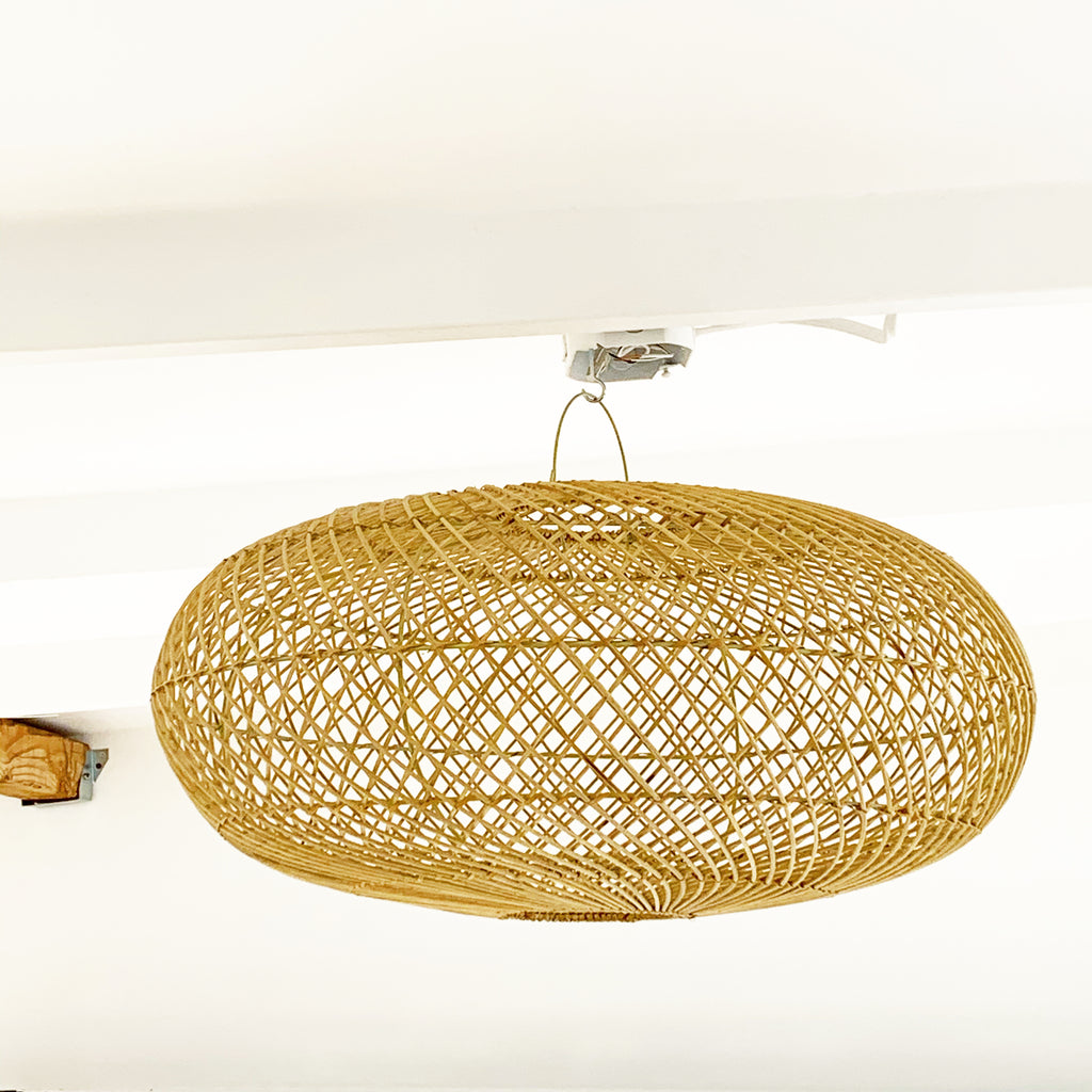 New Simple Classic Sphere Rattan Pendant Light - Med, Large, XLarge