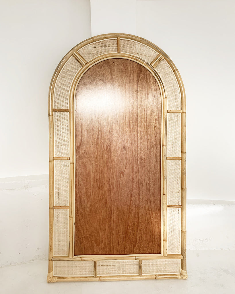 Sample Piece - New Arcade Floor Length Rattan Mirror