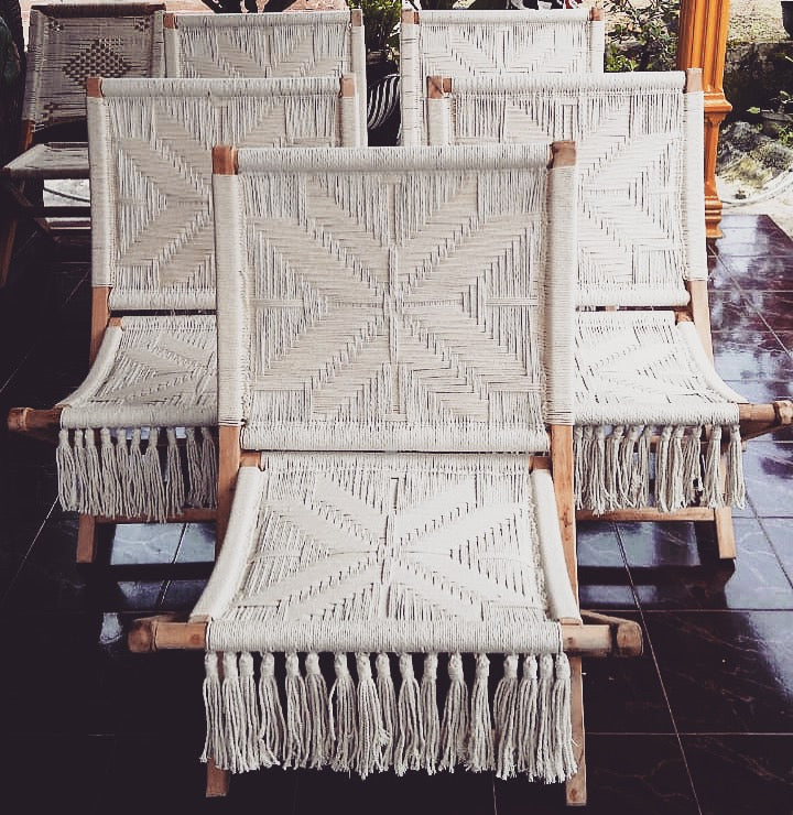 Preorder - Twilight Macrame Chair - Neutral Star - (Late April /Early May 2019 Arrival)