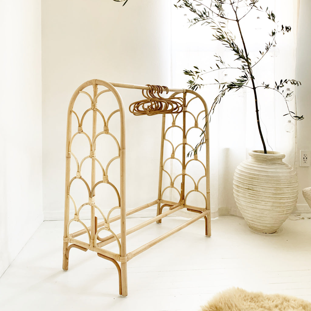 Children's Rattan Clothing Rack - Cloud