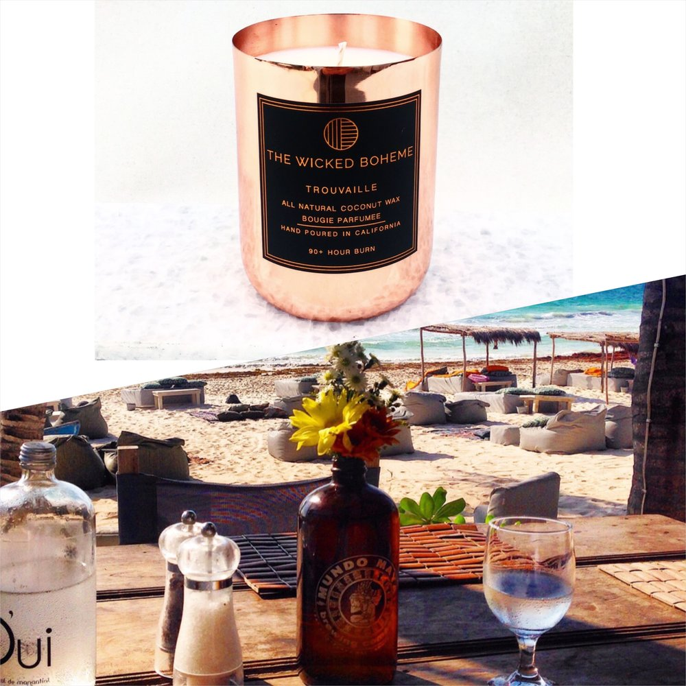 12oz Copper Coconut Wax Candle - Wanderlust / Mermaid