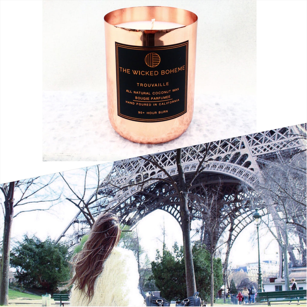 12oz Copper Coconut Wax Candle - Paris / Eiffel