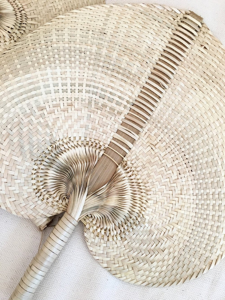 Handmade Natural Palm Fan - SMALL