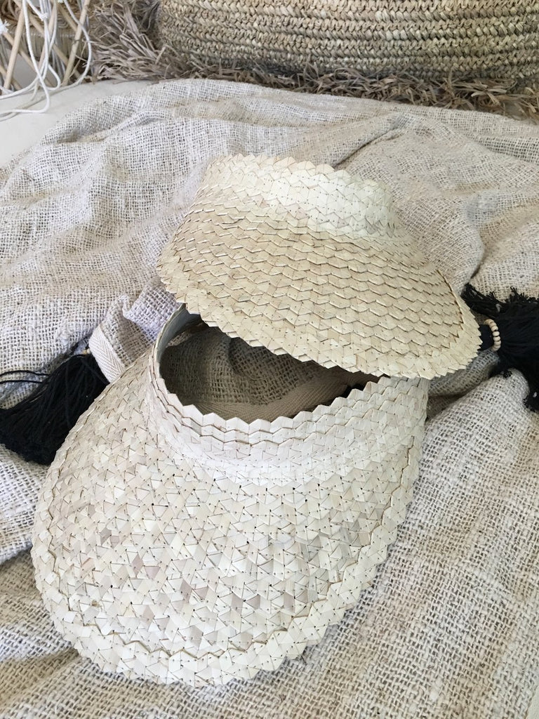 Natural Handmade Raffia Hat - Natural