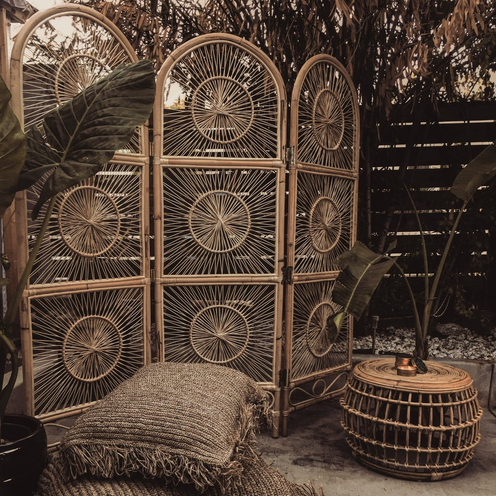 Cosmo Rattan Room Divider