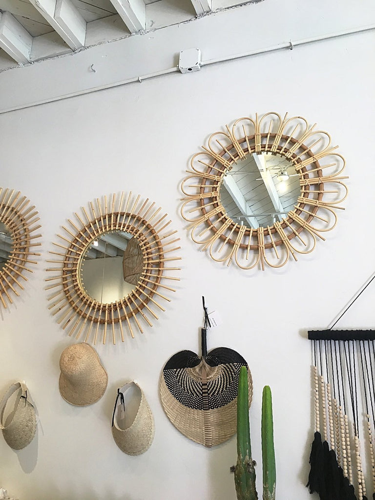 Preorder for November 2020 Arrival - Dahlia Rattan Mirror