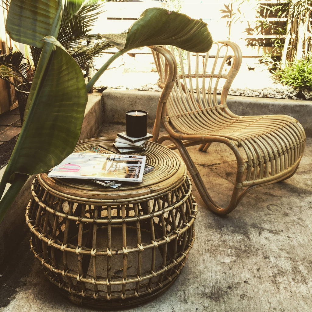 Cosmo Rattan Table - Just Landed