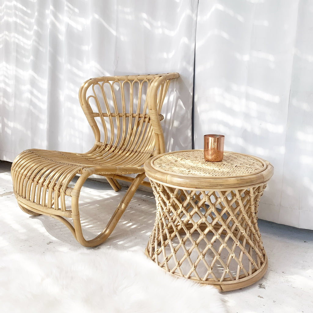 Java Rattan Table - Natural