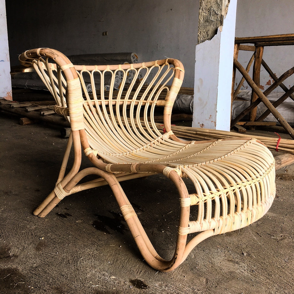 Santorini Rattan Lounger - Natural