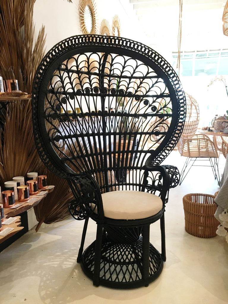 Classic Peacock Chair - Noir