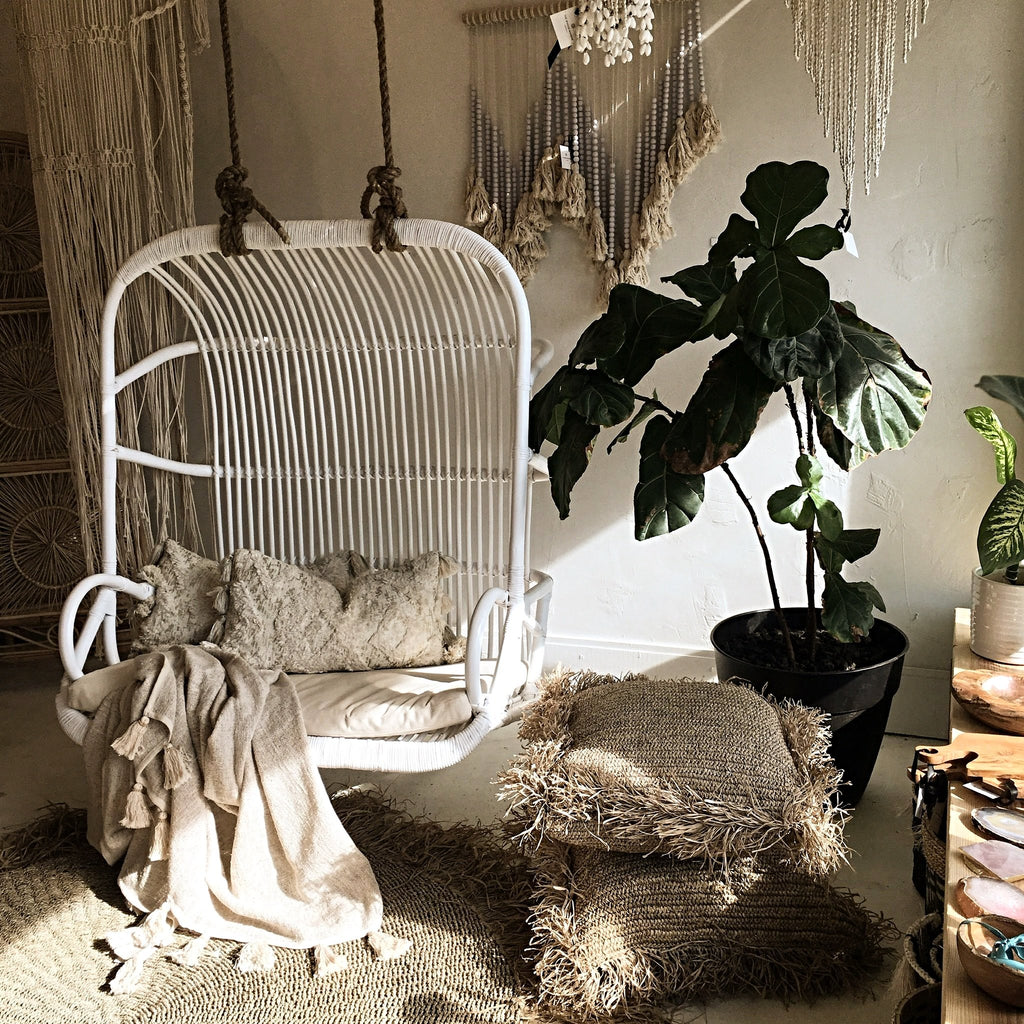 Sample sale!  Paradise Double Seater Hanging Chair - White