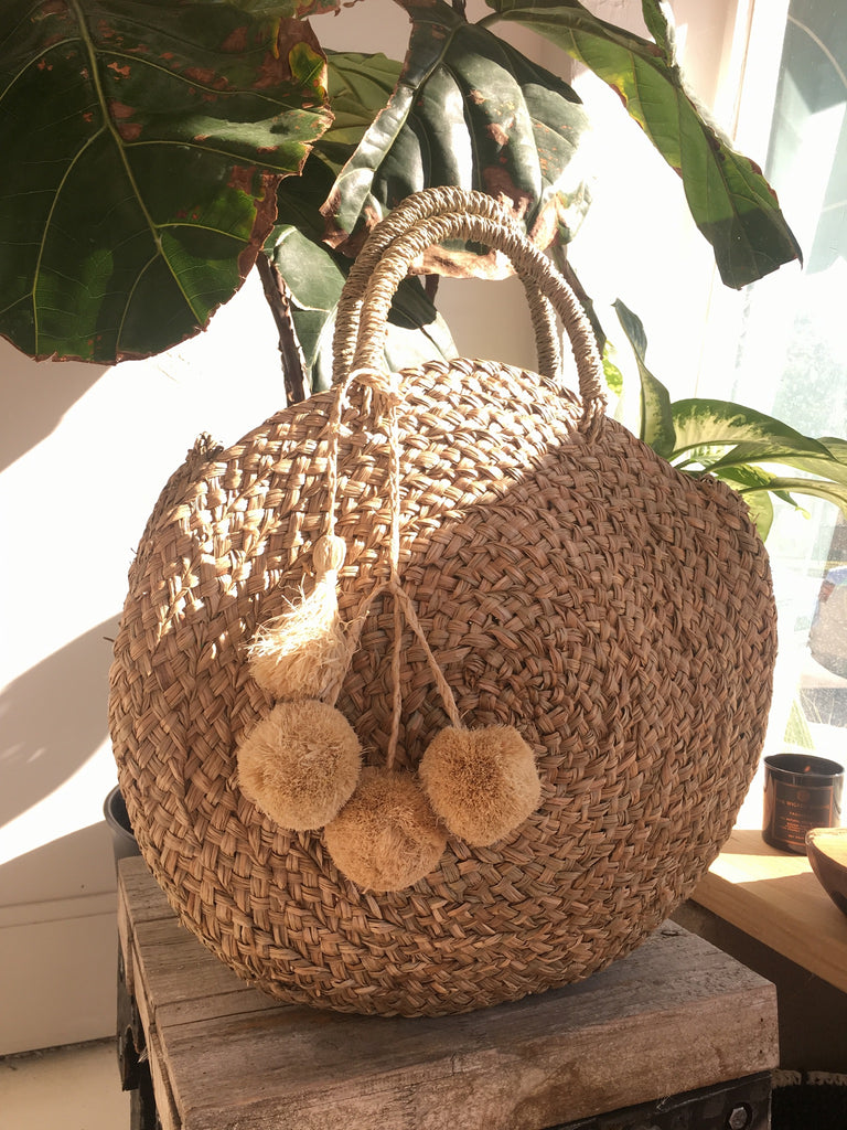 Natural Medong round Bag - Natural