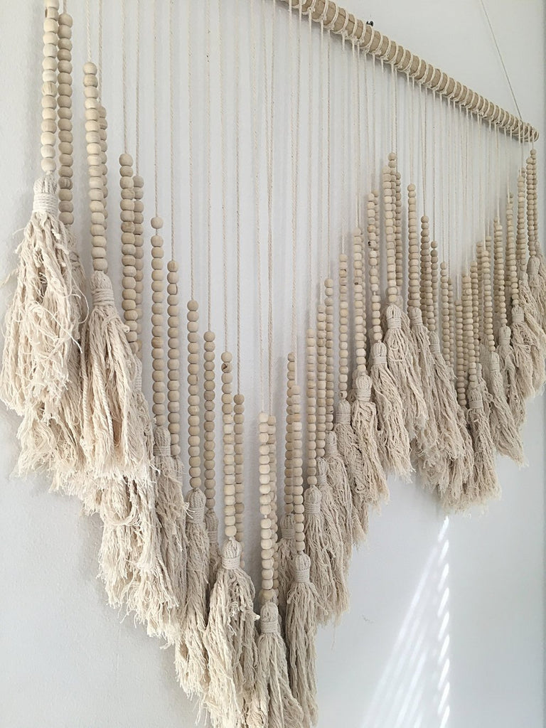 XXLG Bali Handmade Natural Beaded Wall Hanging Art