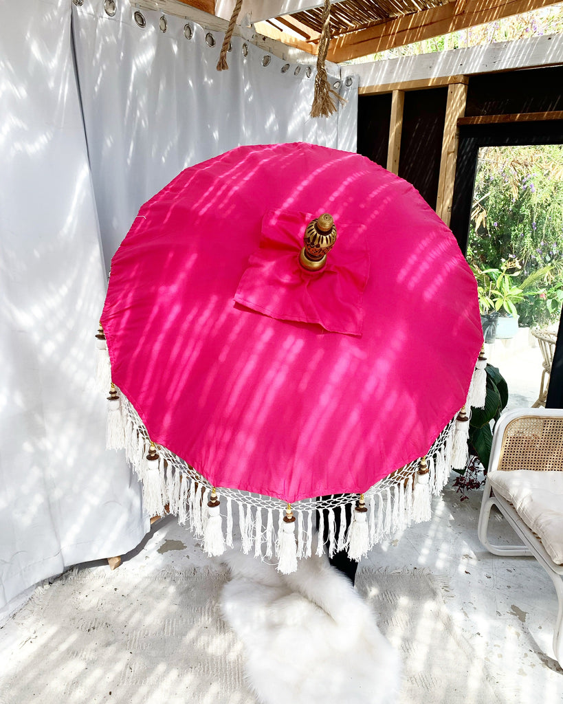 Flamingo Pink Bali Umbrella - 3 ft / 6 ft