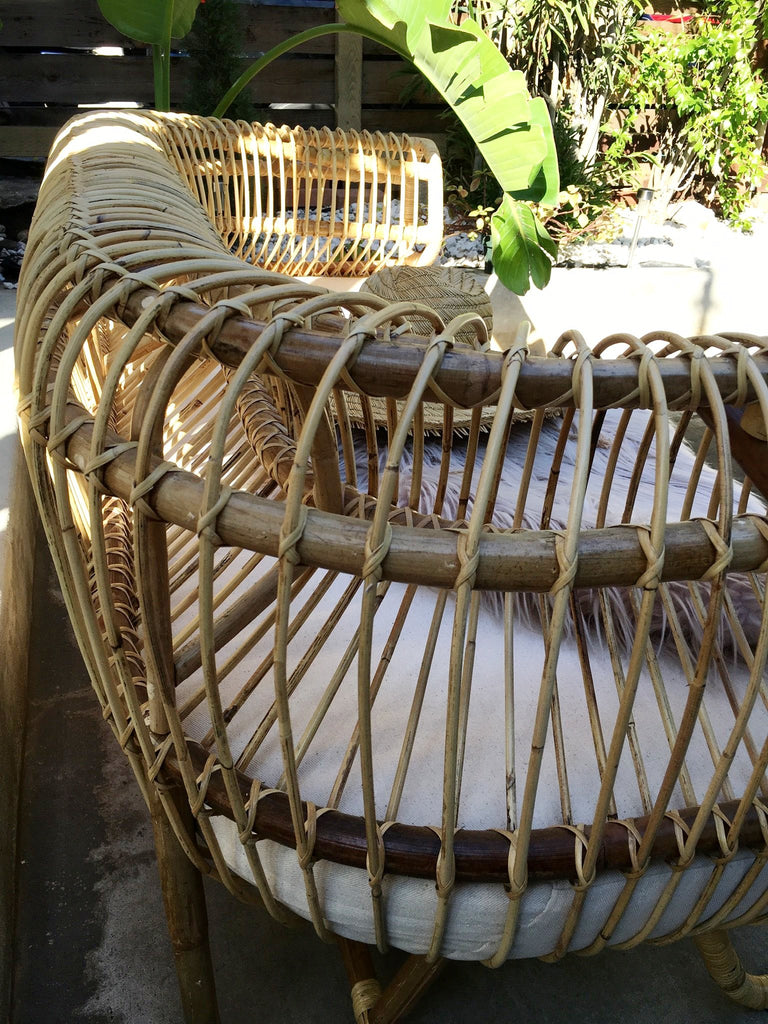Back in Stock! - Cuban Rattan Sofa - Natural