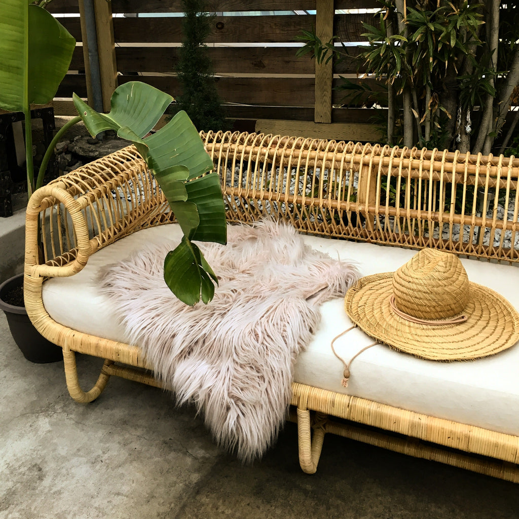 Preorder for a Late October 2020 Arrival! - Cuban Rattan Sofa - Natural