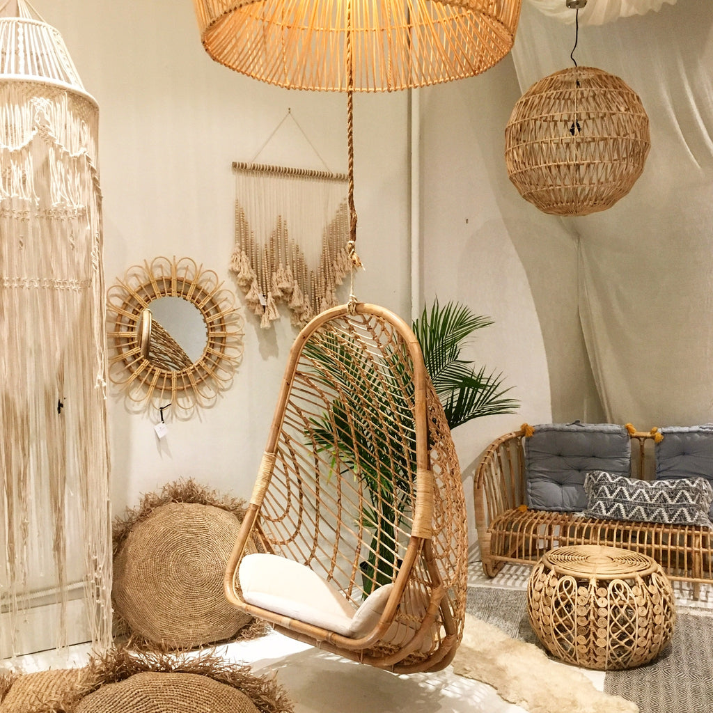 Siren Rattan Hanging Chair - Natural