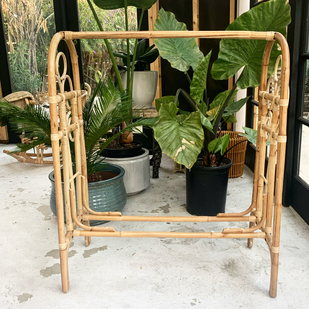 Children's Rattan Clothing Rack