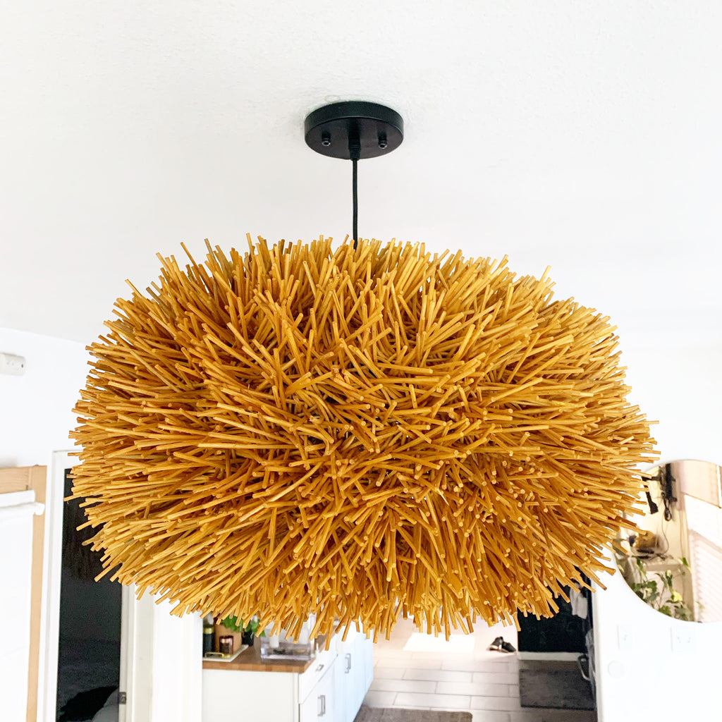 Rattan Sea Urchin Pendant Light Sm, Med, LG