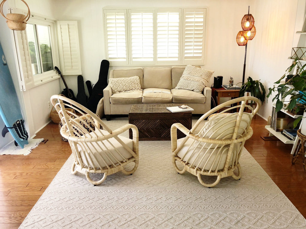 Azure Rattan Lounge Chair