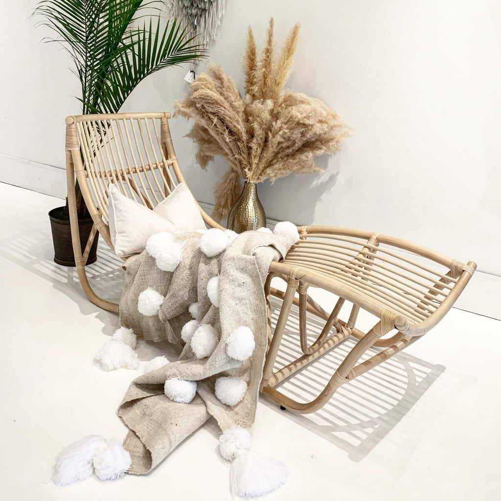 Back in Stock!  Capri Rattan Lounger Chair