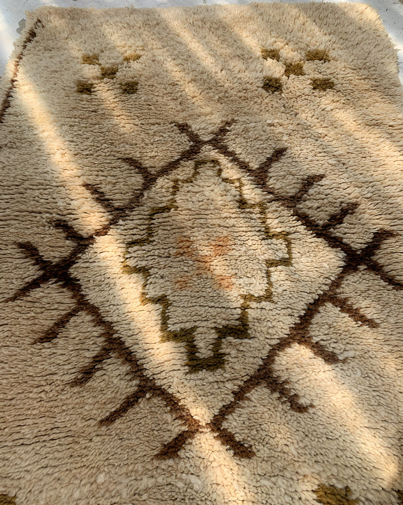 Vintage Authentic Moroccan Rug - Thick