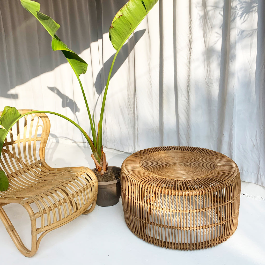 Classic XLG Rattan Coffee Table - Noir / Black
