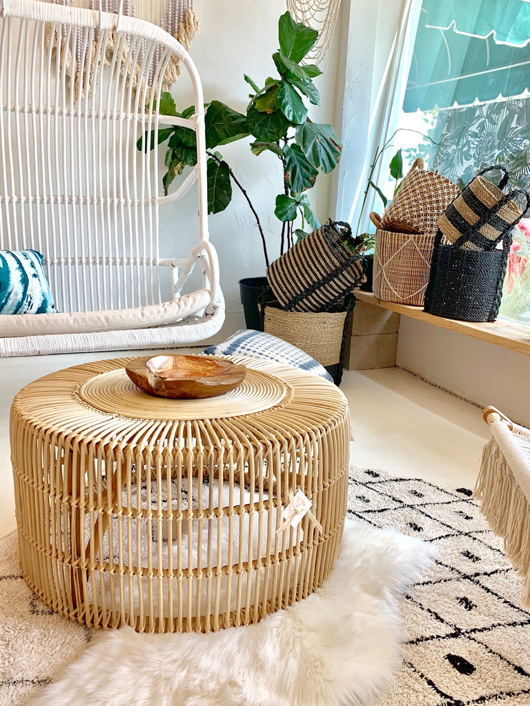 Sample Sale - Classic XLG Rattan Coffee Table - Natural