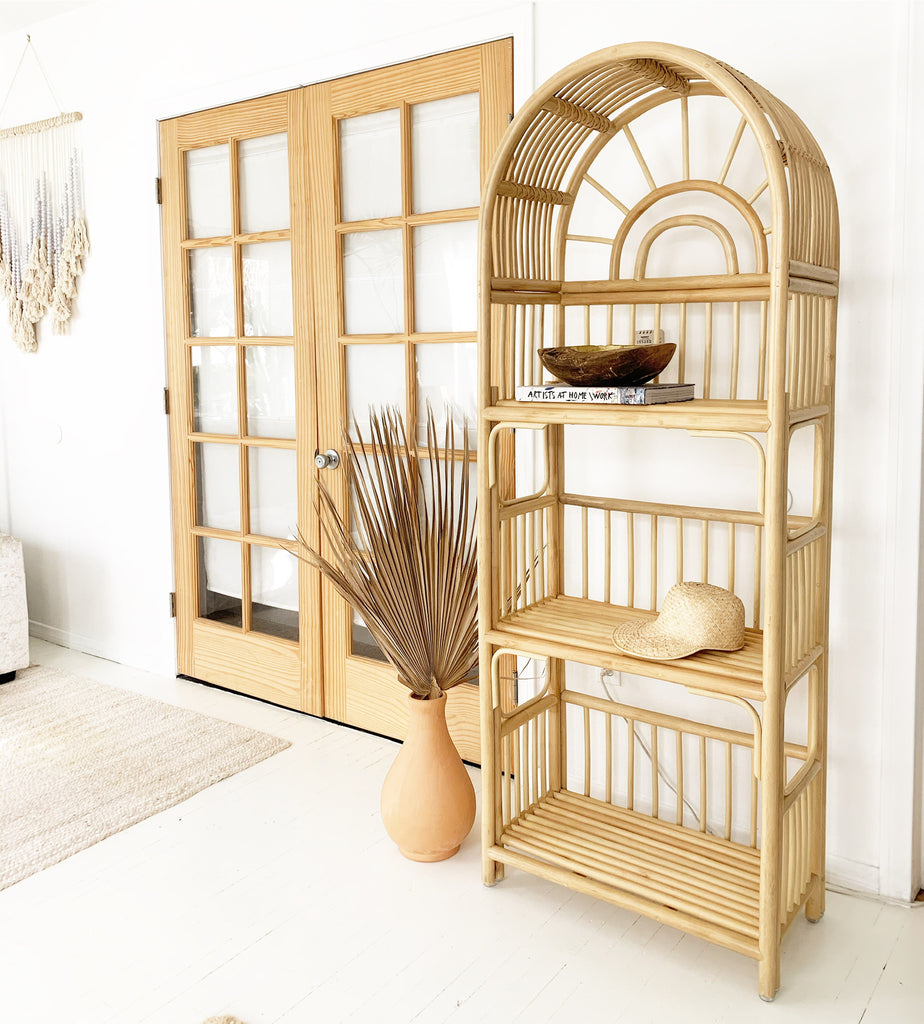 Sample Sale! - Sunbeam Rattan Shelf Bookcase - Natural