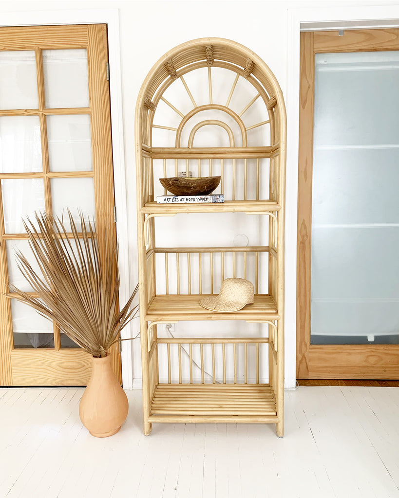 Sunbeam Rattan Shelf Bookcase - Natural