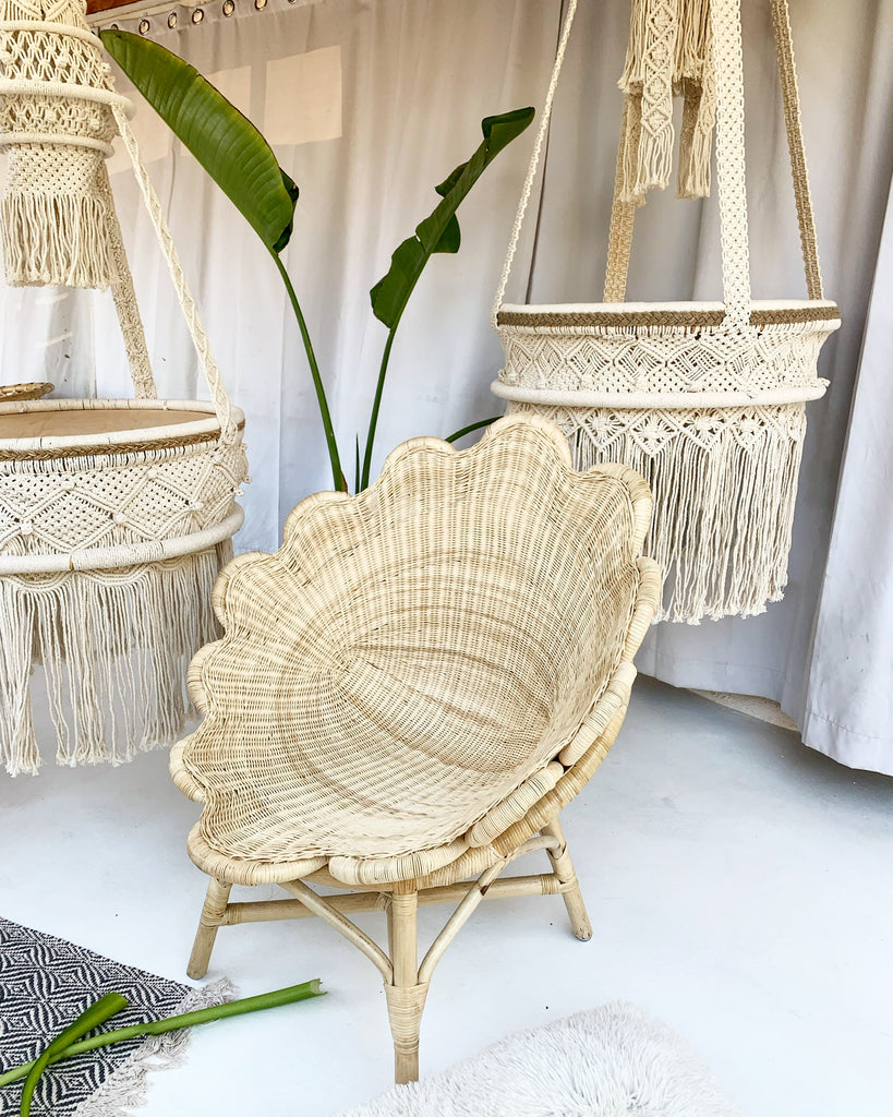 Aphrodite Flower Venus Rattan Wicker Chair