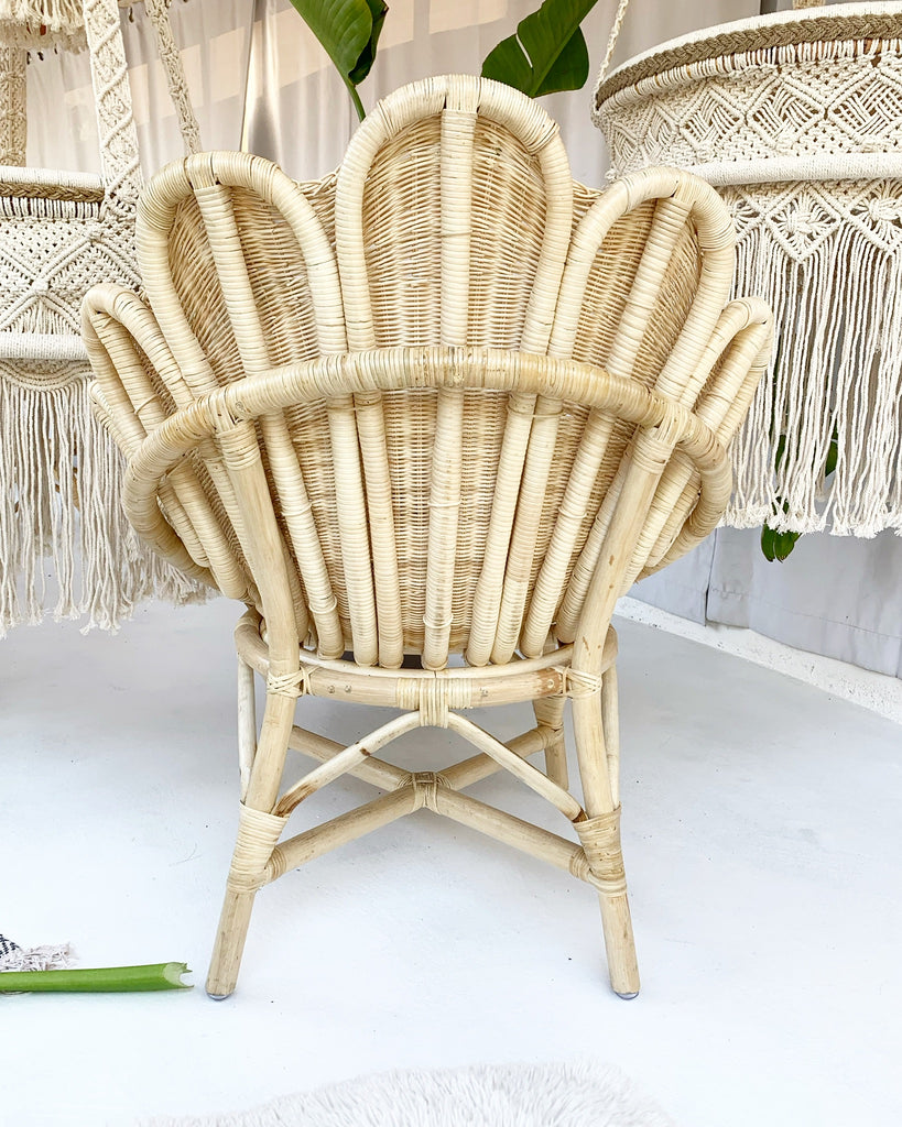 Preorder for a Late November 2020 Arrival - Aphrodite Flower Venus Rattan Wicker Chair