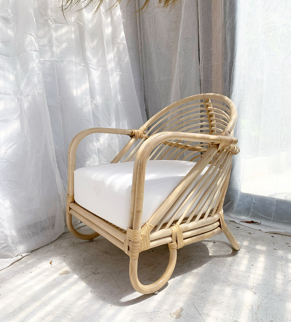 Sample - Azure Arch Rattan Chair Lounger - NATURAL