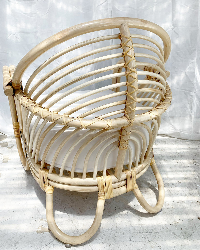 Back in Stock- Azure Arch Rattan Chair Lounger - NATURAL