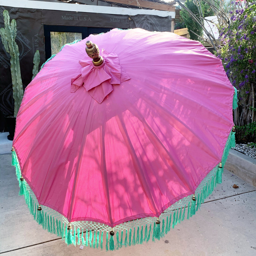 New Bali Boca Boca 6ft Umbrella - Pink/ Turquoise