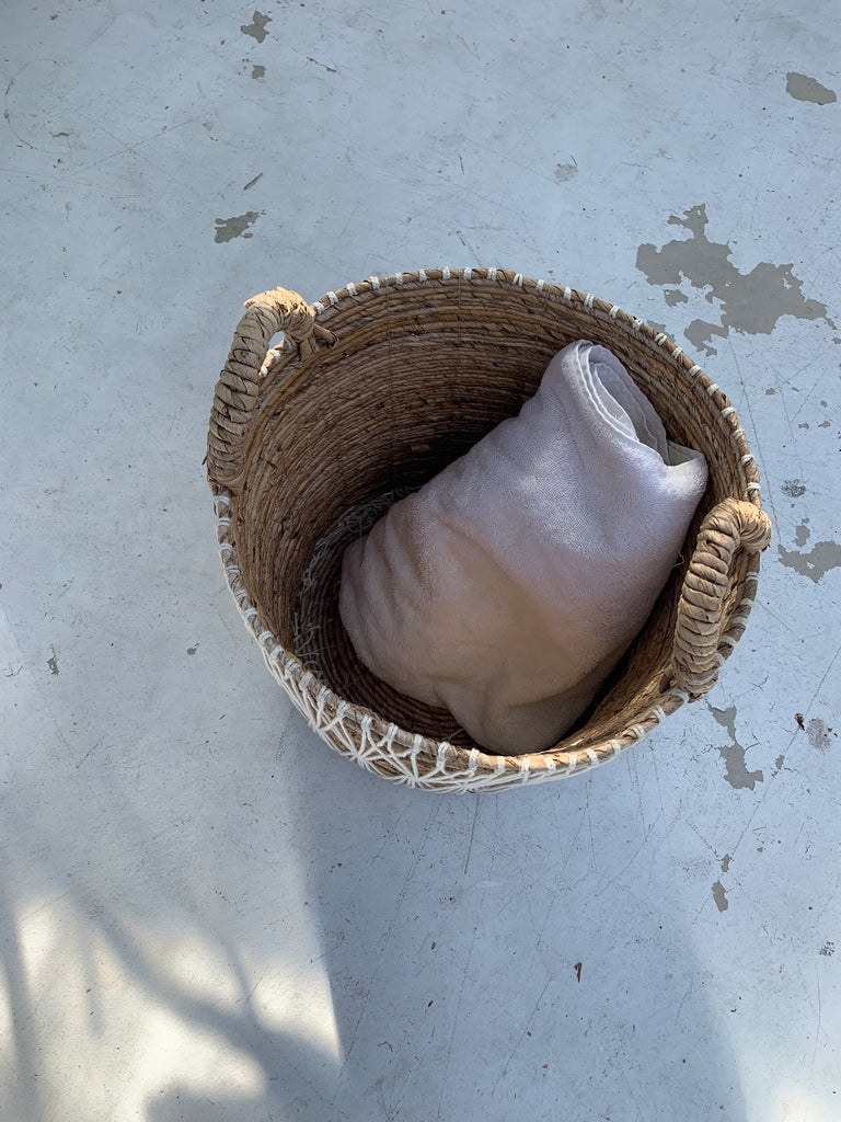 Banana Bark Basket /Macrame - Medium