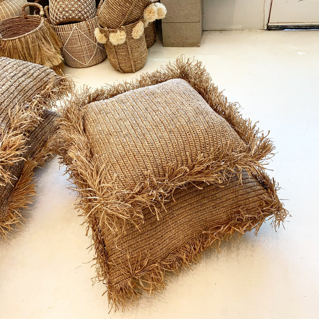 Isla Meditation Floor Cushion Pillow - Raffia LG