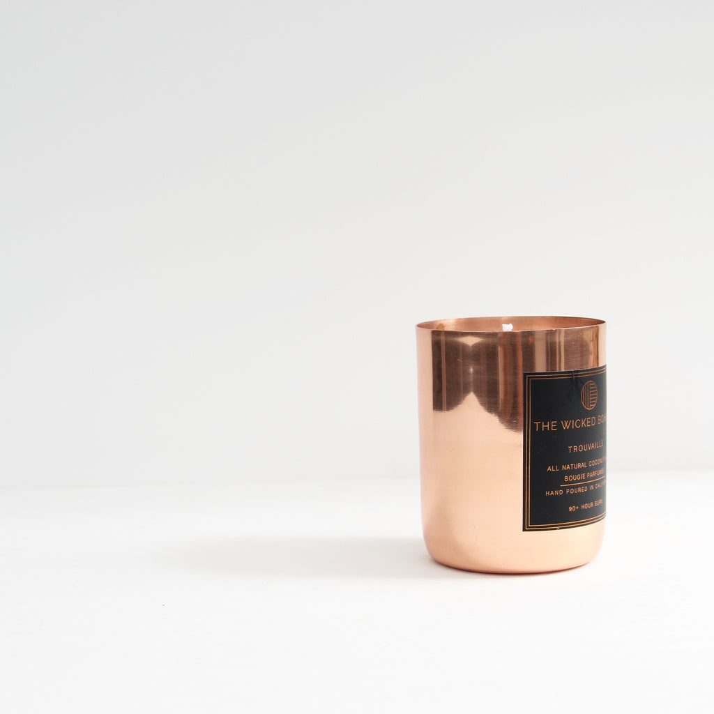 12oz Copper Coconut Wax Candle - Tulum