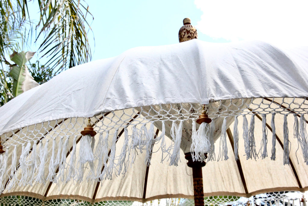 Back in Stock! Neutral Balinese Umbrella