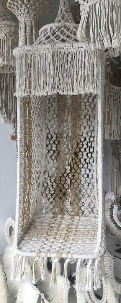 Preorder - Skye Macrame Hammock Hanging Chair - (Late April /Early May 2019 Arrival)