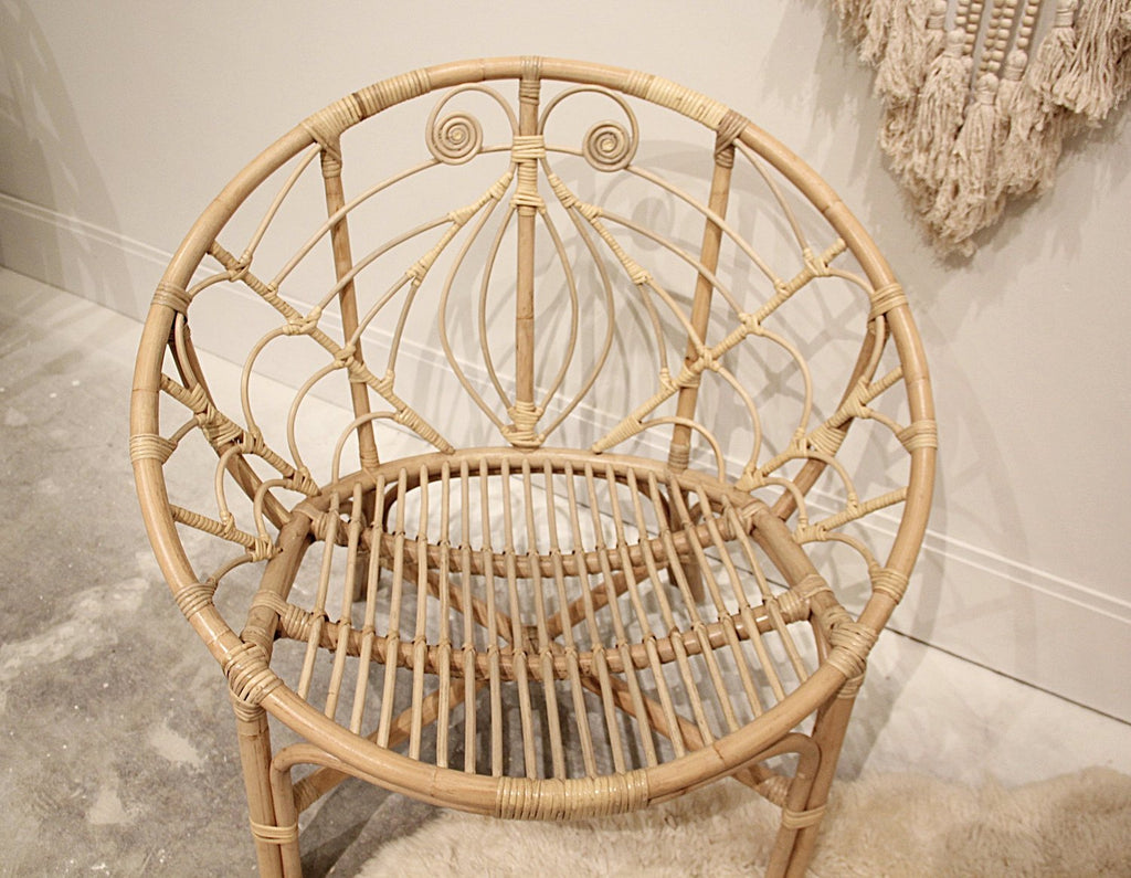 Bali Rattan Peacock Chair- Natural