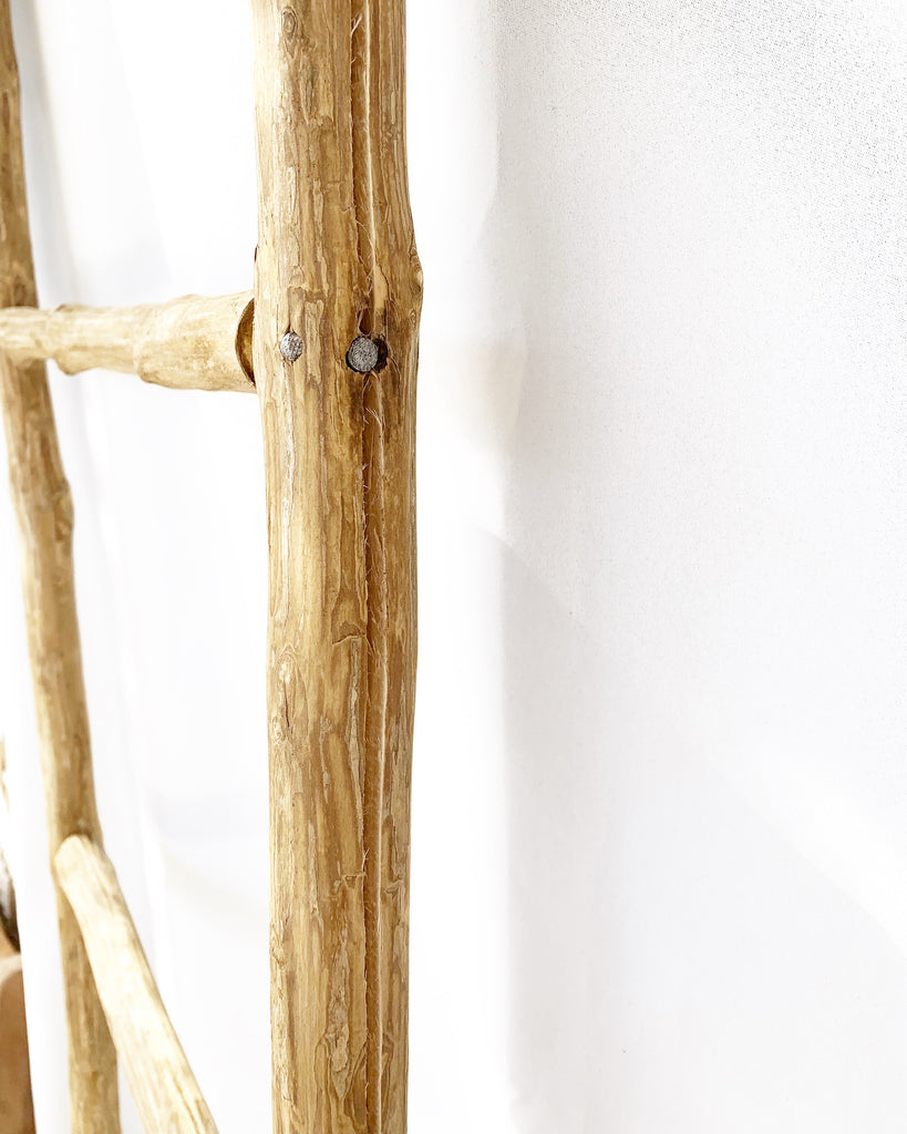 Large Organic Split Wood Driftwood Ladder