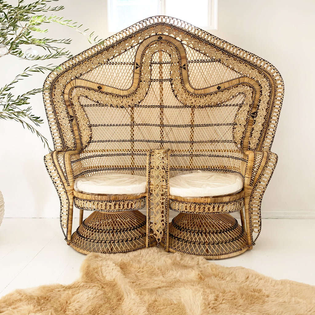 King Cobra Settee Double Peacock Chair - Just Landed!