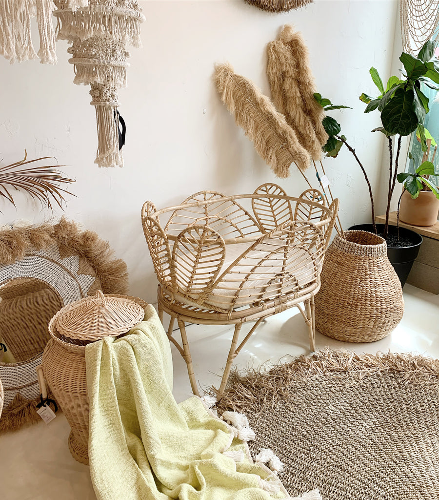 Petal Rattan Bassinet w/ Cushion