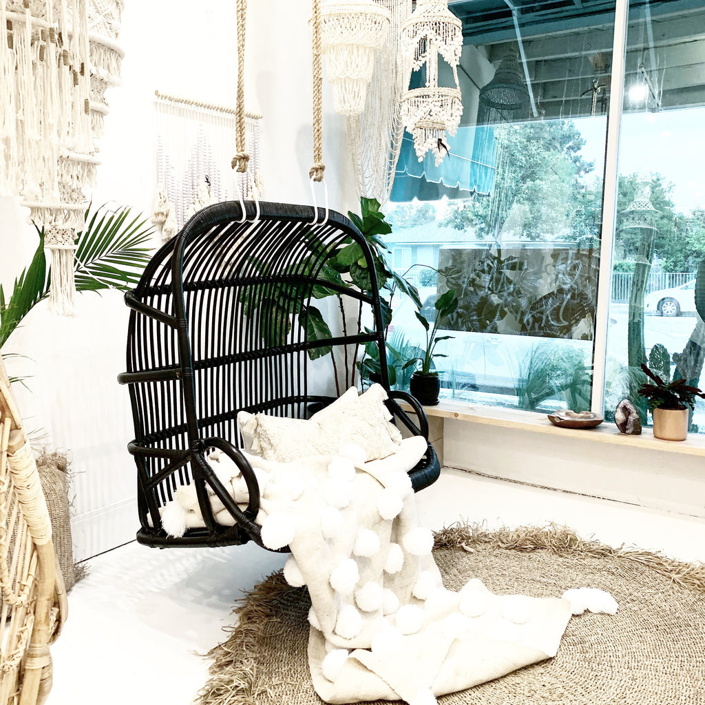 Back in Stock! Paradise Double Seater Hanging Chair - Noir
