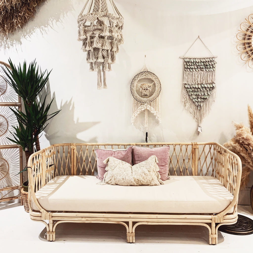 Back in Stock - FIJI Rattan Sofa Couch W/ Cushion
