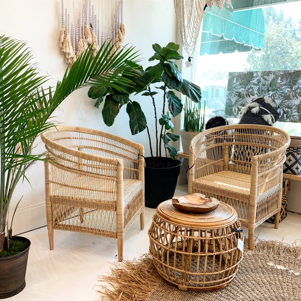 Nami Rattan Chair- Natural - A Pair